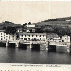 Postales: == PW372 - POSTAL - BEHOBIA - PUENTE INTERNACIONAL - ED. AISA. Lote 198932872