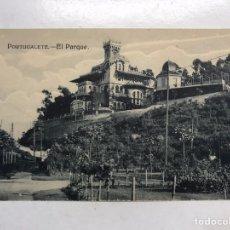 Postales: PORTUGALETE (VIZCAYA) POSTAL EL PARQUE. EDITA: L.G. BILBAO (H.1930?) SIN CIRCULAR. Lote 199058712