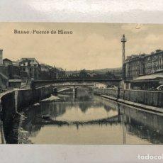 Postales: BILBAO. POSTAL. PUENTE DE HIERRO. EDITA: L. G. (H.1930?) SIN CIRCULAR.... Lote 199060583