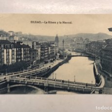 Postales: BILBAO. POSTAL ANIMADA. LA RIBERA Y LA MERCED. EDITA: L. G. (H.1930?) SIN CIRCULAR..... Lote 199061327