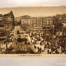 Postales: BILBAO. POSTAL ANIMADA TRANVÍA NO.21, PUENTE DE ISABEL II, EDITA: FOTO ROISIN (H.1930?) S/C.. Lote 199063521