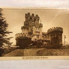 Postales: VIZCAYA . POSTAL NO.30, CASTILLO DE BUTRON: FOTO ROISIN (H.1930?) SIN CIRCULAR.... Lote 199068641