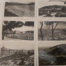 Postales: LOTE DE 6 POSTALES SAN SEBASTIÁN EL PAÍS VASCO LA CONCHA PARQUE ISLA SANTA CLARA. Lote 199086587