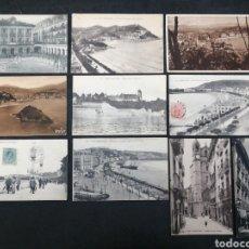 Postales: SAN SEBASTIÁN, LOTE DE 9 POSTALES. Lote 199313538
