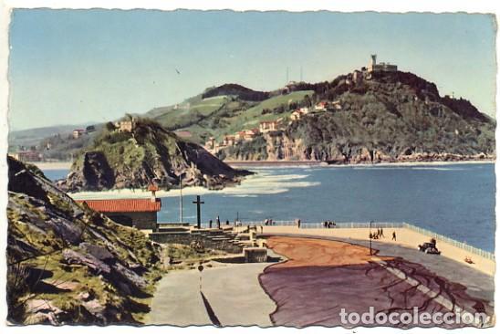 ANTIGUA POSTAL DE SAN SEBASTIÁN - VISTA DESDE EL MONTE URGULL - FOTO WILLY KOCH - Nº 107 - ESCRITA (Postales - España - País Vasco Moderna (desde 1940))