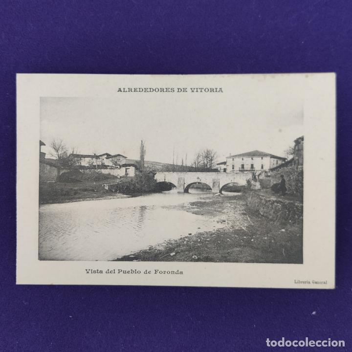 POSTAL DE ALREDEDORES DE VITORIA (ALAVA). VISTA DEL PUEBLO DE FORONDA.AÑO 1910-1915.LIBRERIA GENERAL (Postales - España - Pais Vasco Antigua (hasta 1939))