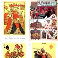Postales: 4 POSTALES DEL MUSEO FOURNIER DE NAIPES DE ALAVA CON SU CARPETILLA. Lote 200034847
