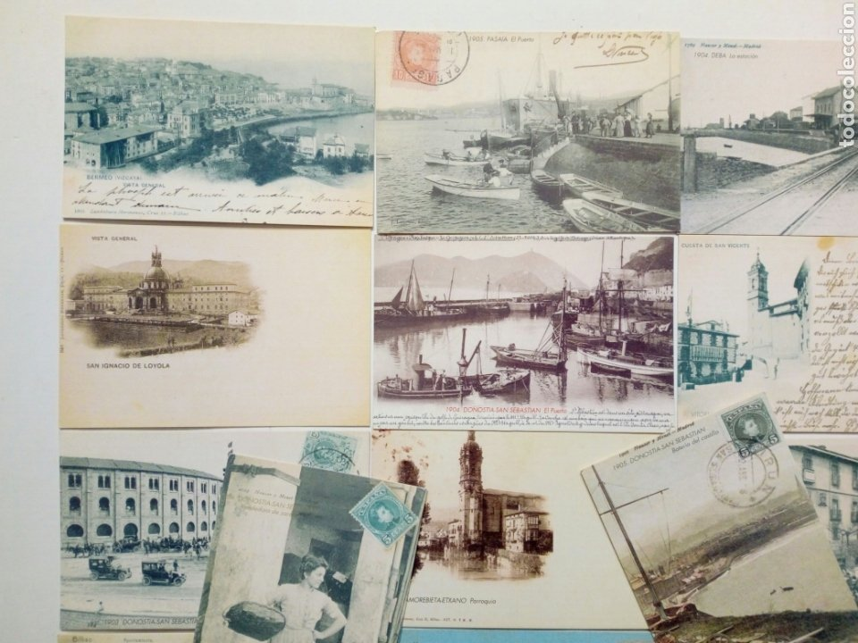 Postales: Lote 22 postales - País Vasco antiguo - Editadas por El Mundo del País Vasco - Euskadi - Foto 2 - 200729456