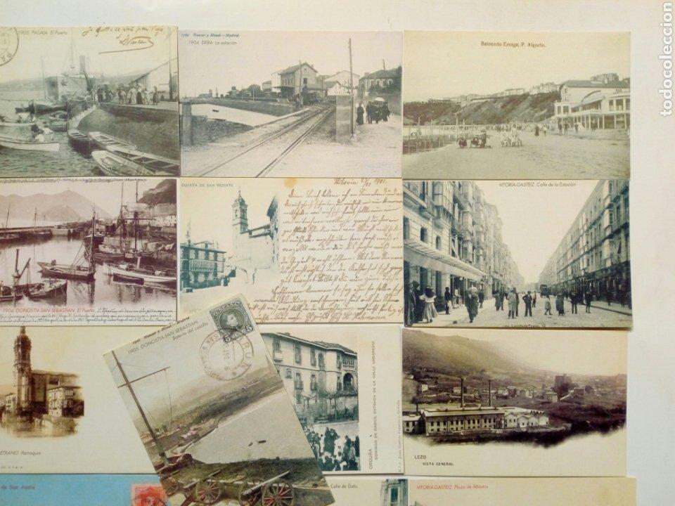 Postales: Lote 22 postales - País Vasco antiguo - Editadas por El Mundo del País Vasco - Euskadi - Foto 3 - 200729456