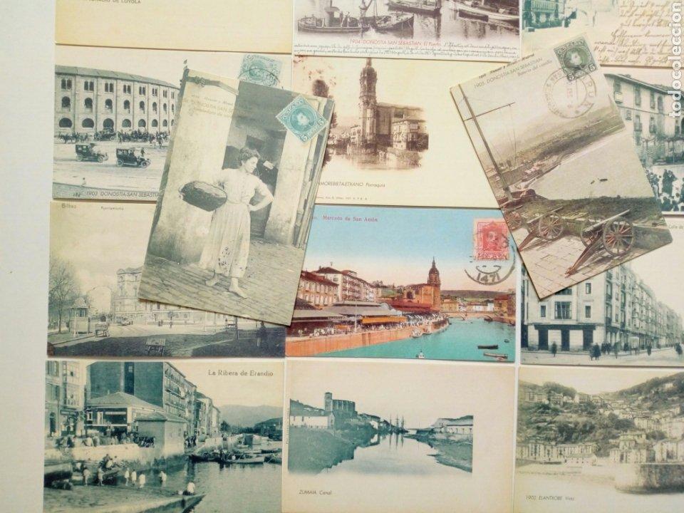 Postales: Lote 22 postales - País Vasco antiguo - Editadas por El Mundo del País Vasco - Euskadi - Foto 4 - 200729456