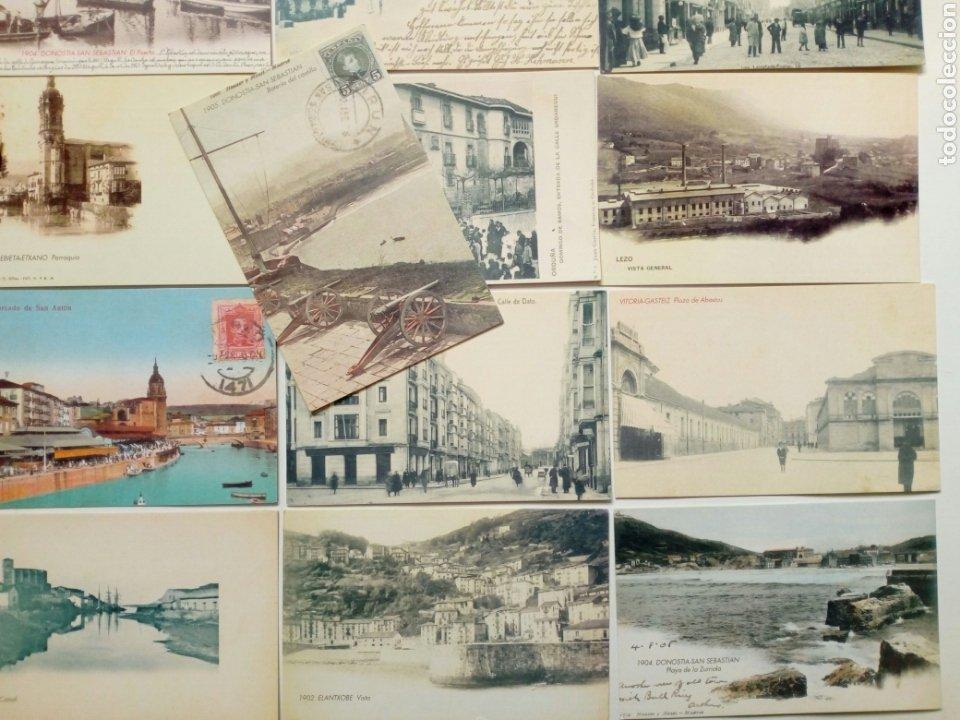 Postales: Lote 22 postales - País Vasco antiguo - Editadas por El Mundo del País Vasco - Euskadi - Foto 5 - 200729456