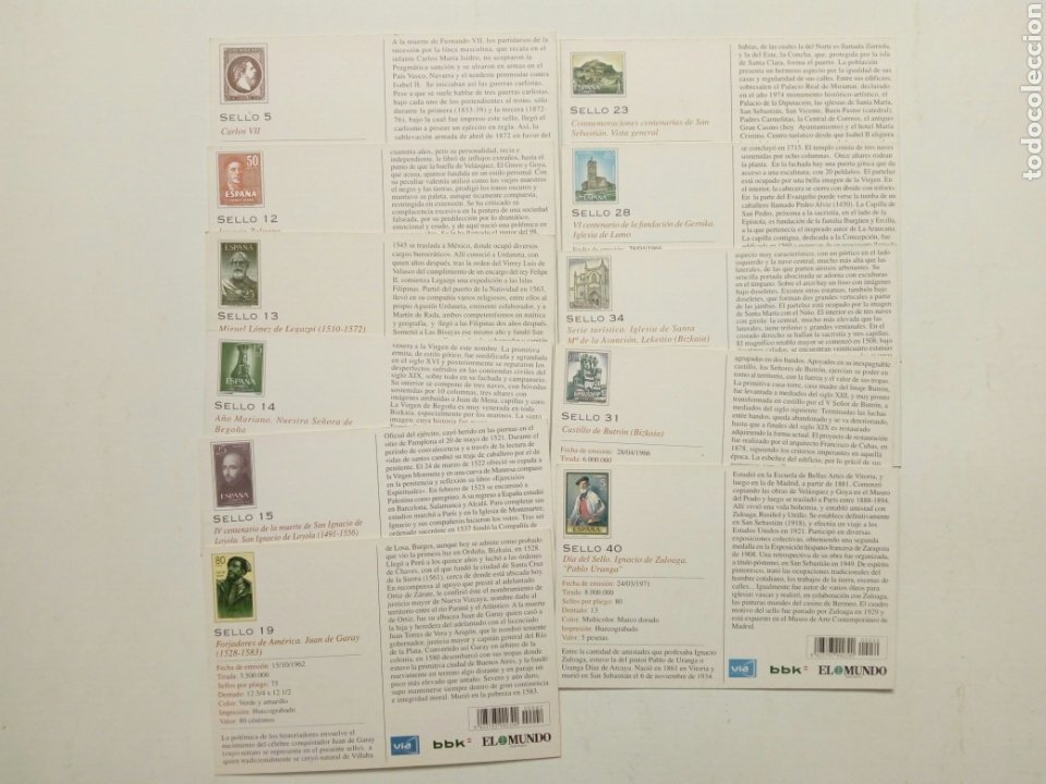 Postales: Lote 22 postales - País Vasco antiguo - Editadas por El Mundo del País Vasco - Euskadi - Foto 6 - 200729456