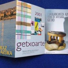Postales: POSTAL DESPLEGABLE PUBLICIDAD DE LA FERIA DE ARTESANÍA DE GETXO. 2001. GETXO AZOKA.. Lote 202522161