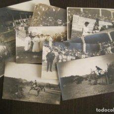 Postales: SAN SEBASTIAN-TORNEO DE HIPICA-LOTE DE 10 POSTALES FOTOGRAFICAS ANTIGUAS-CABALLOS-VER FOTOS-(69.019). Lote 202598868