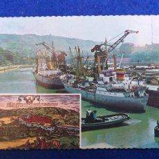 Postales: POSTAL BILBAO, VIZCAYA EN LA CORNISA CANTÁBRICA. TARJE-FHER. AÑOS 60. SIN CIRCULAR. Lote 203206226