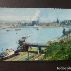 Postales: SESTAO VIZCAYA DARSENA DE LA FEDERICA Y ALTOS HORNOS. Lote 204014783