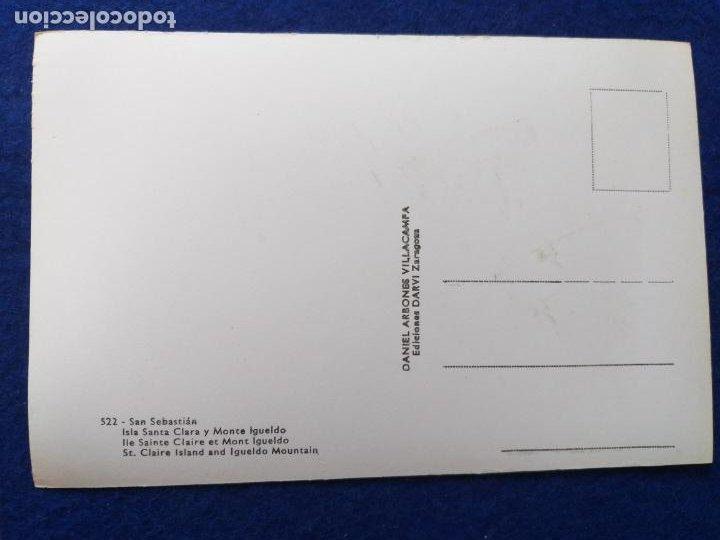 Postales: Postal blanco y negro. San Sebastián. Isla Santa Clara y Monte Igeldo. # 522. Sin CIRCULAR - Foto 2 - 204111015
