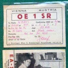 Postales: 2 TARJETAS DE RADIOAFICIONADOS. BILBAO ( VIZCAYA) Y VIENA (AUSTRIA). Lote 204192986