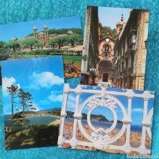 Postales: 4 POSTALES DE SAN SEBASTIAN.CALLE MAYOR,PARQUE Y AYUNTAMIENTO,PLAYA Y MONTE IGUELDO,. Lote 204233780
