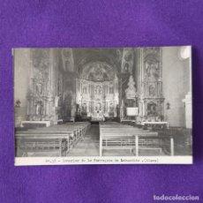 Postales: POSTAL DE LABASTIDA (ALAVA). Nº37 INTERIOR DE LA PARROQUIA DE LABASTIDA. 1950.. Lote 205553777