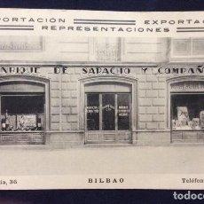 Postales: POSTAL PUBLICITARIA DE ENRIQUE SARACHO Y COMPAÑIA BILBAO SIN CIRCULAR. Lote 205715070