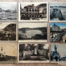 Postales: 24 POSTALES ANTIGUAS SAN SEBASTIAN. Lote 206165968