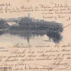 Postales: FUENTERRABIA VISTA GENERAL. ED. HAUSER Y MENET Nº 368. REVERSO SIN DIVIDIR. CIRCULADA EN 1904. Lote 206277160