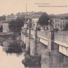 Postales: IRUN PUENTE INTERNACIONAL DE BEHOVIA. ED. VALVERDE HAUSER Y MENET. SIN CIRCULAR. Lote 206277481