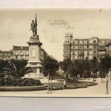 Postales: SAN SEBASTIÁN. POSTAL NO.103, ESTATUA DEL ALMIRANTE OQUENDO FOTO GALARZA (H.1950?). Lote 206410556