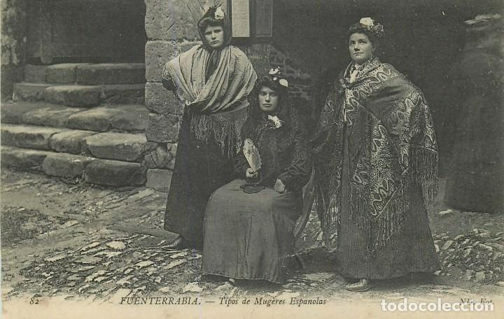 TARJETA POSTAL FUENTERRABIA TIPOS DE MUJERES ESPAÑOLAS, HONDARRIBIA GUIPUZCOA, SIN CIRCULAR (Postales - España - Pais Vasco Antigua (hasta 1939))