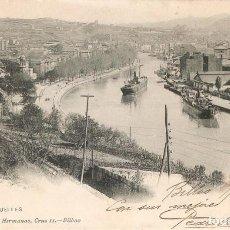 Postales: BILBAO Nº 1024 LOS MUELLES LANDÁBURU H. C.1904. Lote 210020663