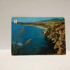 Postales: POSTAL Nº 1 - ANDALUCIA - MALAGA, NERJA, PLAYA DE LA DONCELLA - ED. FISA 1962. Lote 210232515