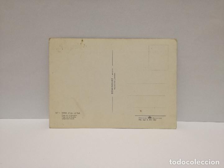Postales: POSTAL Nº 1 - ANDALUCIA - MALAGA, NERJA, PLAYA DE LA DONCELLA - ED. FISA 1962 - Foto 2 - 210232515
