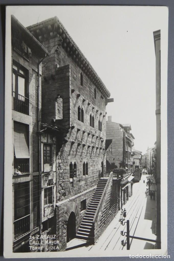 POSTAL FOTOGRAFICA. CALLE MAYOR. TORRE ZULEA. ZARAUZ. REGTOR. 34. SC (Postales - España - País Vasco Moderna (desde 1940))