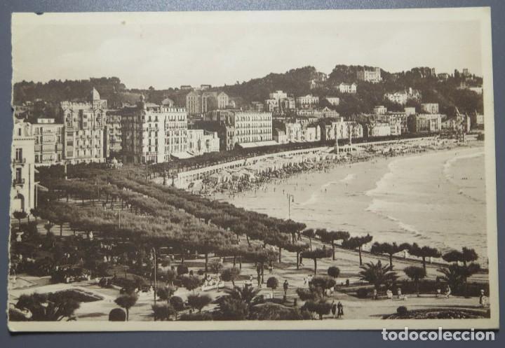 POSTAL. SAN SEBASTIAS. JARDINES ALDERDI EDER. GALARZA (Postales - España - País Vasco Moderna (desde 1940))