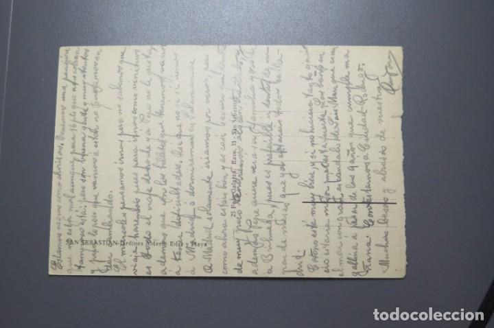 Postales: POSTAL. SAN SEBASTIAS. JARDINES ALDERDI EDER. GALARZA - Foto 2 - 210359358