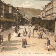 Postales: SAN SEBASTÍAN Nº 113 ACDA. DE LA LIBERTAD LL. CIRCULADA. Lote 210388982
