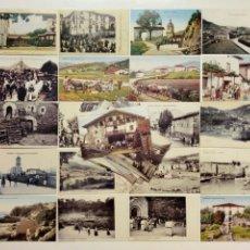 Postales: LOTE DE 34 POSTALES DEL BIZKAIA ANTIGUO (REPRODUCCIONES, PUBLICADAS POR EL DIARIO DEIA) - VIZCAYA -. Lote 210400498