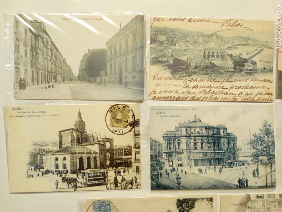 Postales: Lote 8 postales - País Vasco antiguo - Editadas por El Mundo del País Vasco, con sellos - Euskadi - Foto 2 - 210402645