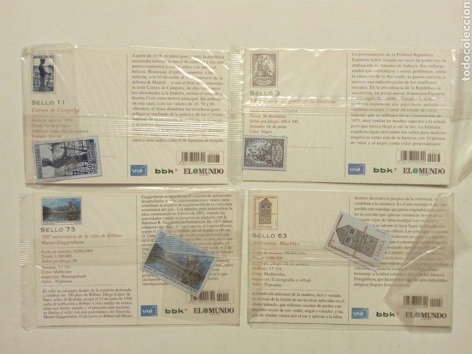 Postales: Lote 8 postales - País Vasco antiguo - Editadas por El Mundo del País Vasco, con sellos - Euskadi - Foto 4 - 210402645