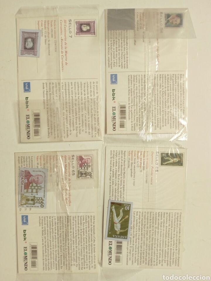 Postales: Lote 8 postales - País Vasco antiguo - Editadas por El Mundo del País Vasco, con sellos - Euskadi - Foto 5 - 210402645