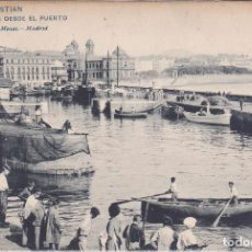 Postales: SAN SEBASTIAN (GUIPUZCOA) - VISTA DESDE EL PUERTO. Lote 210412832