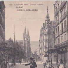 Postales: BILBAO (VIZCAYA) - ALAMEDA MAZARREDO. Lote 210418807