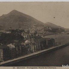 Postales: MUELLE DE CHURRUCA-CIRCULADA Y CON SELLO-PORTUGALETE-VIZCAYA. Lote 210421010