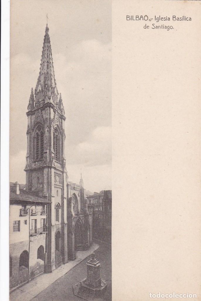 BILBAO IGLESIA BASILICA DE SANTIAGO. ED. LG. SIN CIRCULAR (Postales - España - Pais Vasco Antigua (hasta 1939))
