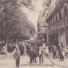 Postales: SAN SEBASTIAN LA ALAMEDA. ED. MAYOR HERMANOS Nº3. CIRCULADA EN 1916. Lote 210479332