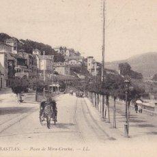 Postales: SAN SEBASTIAN PASEO DE MIRA-CONCHA. ED. LL Nº 55. SIN CIRCULAR. Lote 210479620
