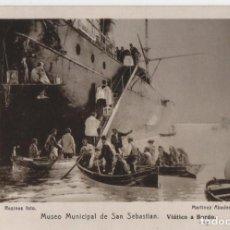 Postales: VIATICO A BORDO DEL MUSEO DE SAN SEBASTIAN-GUIPUZCOA. Lote 210603300