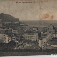 Postales: BARRIO DE GROS-CIRCULADA Y CON SELLO-SAN SEBASTIAN-GUIPUZCOA. Lote 211508210