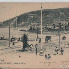 Postales: BARRIO GROS Y MONTE ULIA-CIRCULADA Y CON SELLO-SAN SEBASTIAN-GUIPUZCOA. Lote 211508896